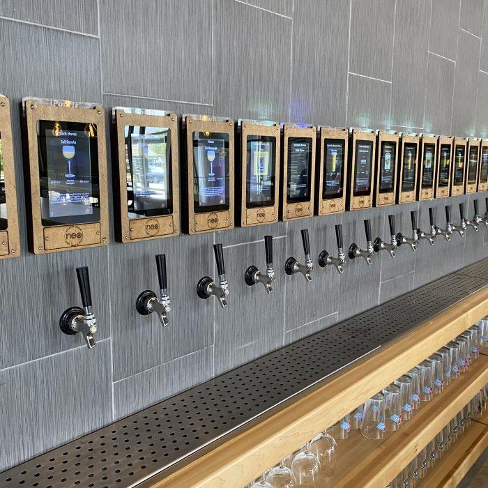 self-serve beer wall
